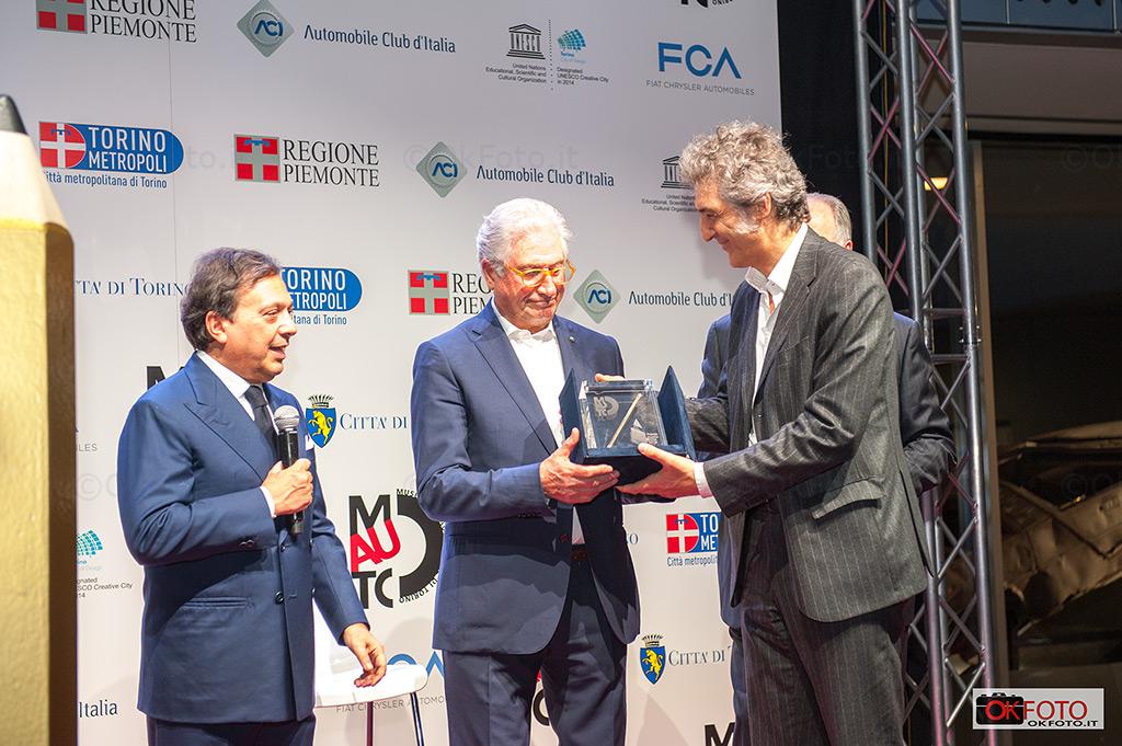 Giugiaro, Camerana e Chiambretti al Mauto per la consegna del premio Matita d'oro