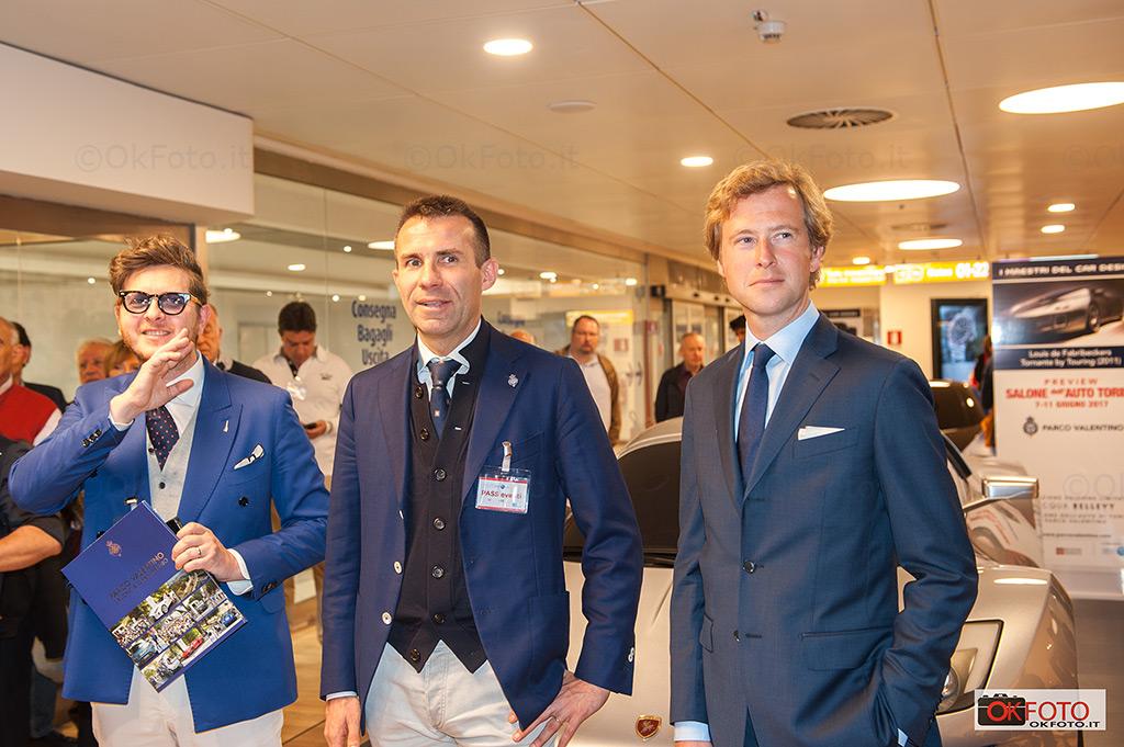 Louis de Fabribeckers, Umberto Palermo e Andrea Levy alla preview del Salone dell'automobile di Torino