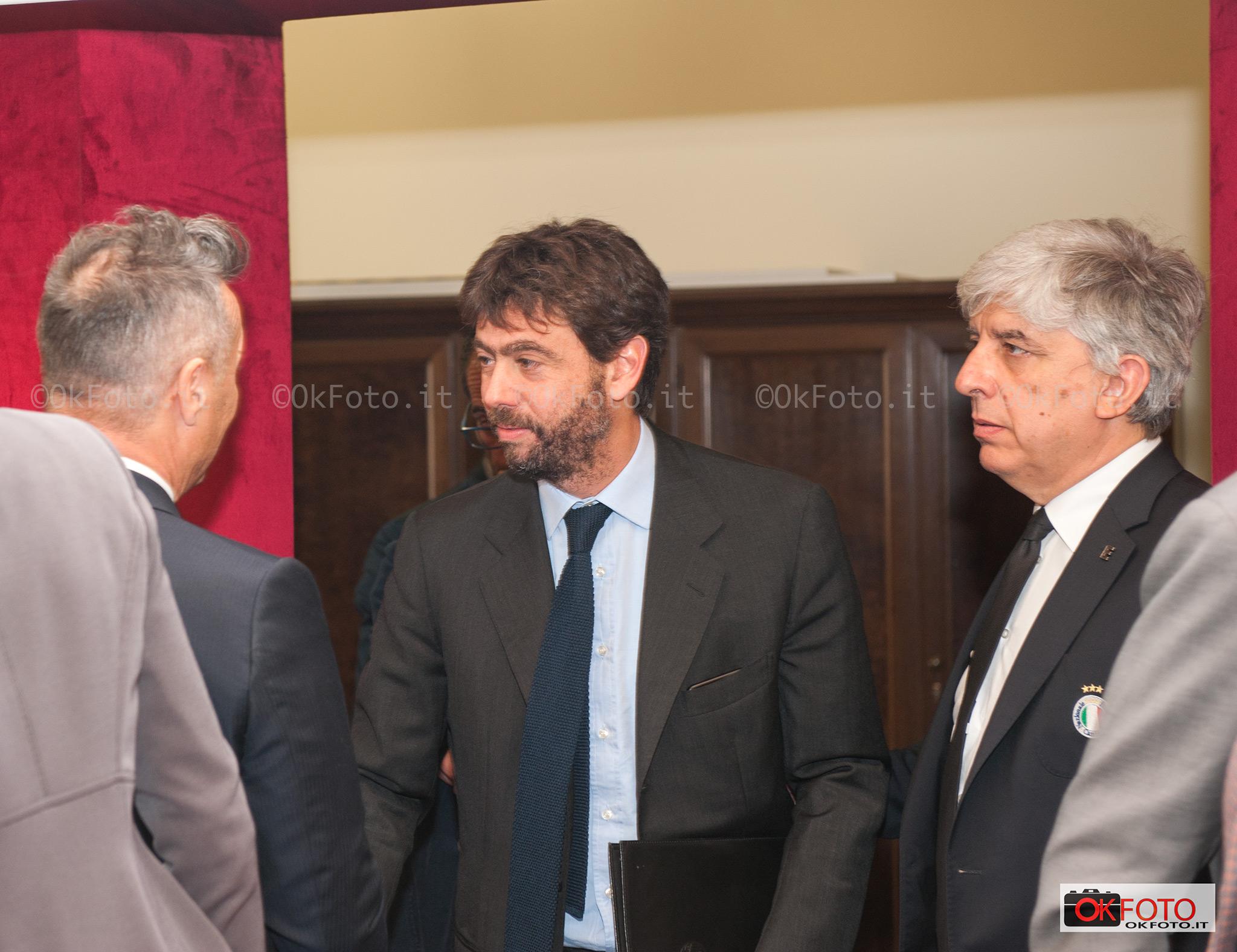 Andrea Agnelli incontra Paolo Belli