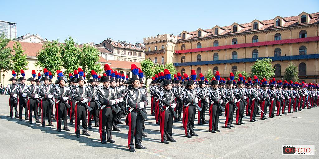 Caserma Cernaia: cerimonia di consegna degli alamari