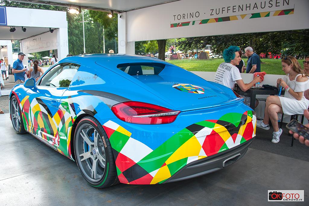 l'opera di Ugo Nespolo al Salone dell'auto di Torino