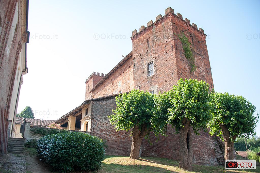 il castello medioevale di Ternavasso, dove si svolge Militali