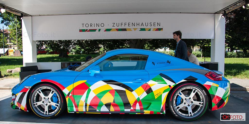 Torino-Zuffenhausen di Ugo Nespolo su Porsche Moncenisio