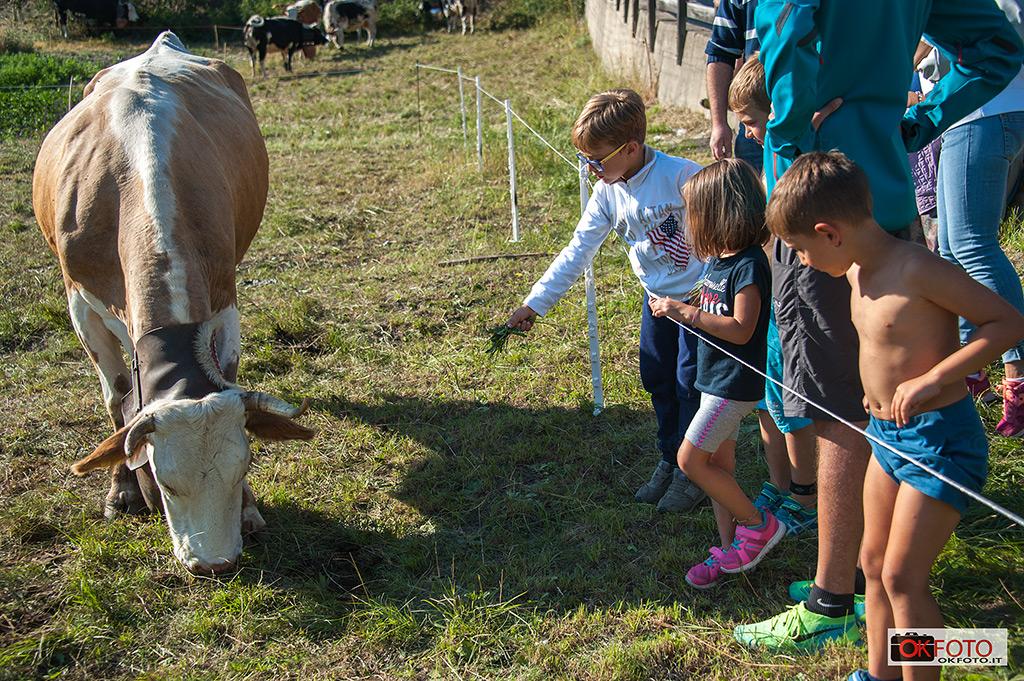 bambini felici in occasione di Miss Mucca a Pragelato