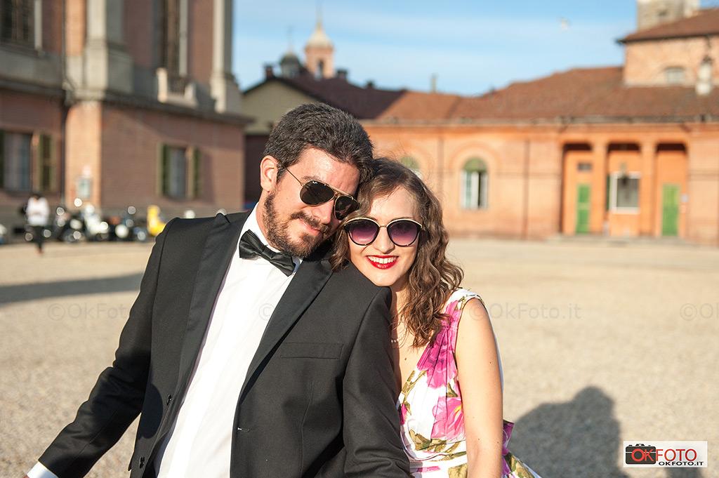 viaggio di nozze in Vespa a Racconigi