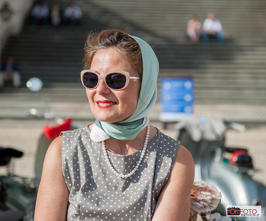 La moda vintage al raduno Vespa al castello di Racconigi