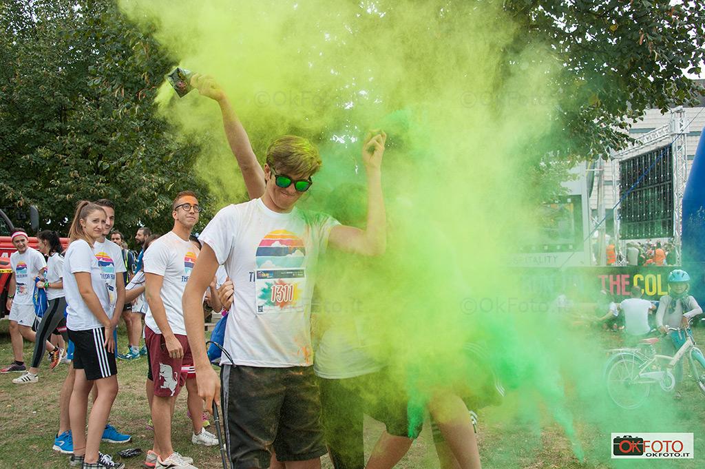 the Color run Torino in piazza d'armi