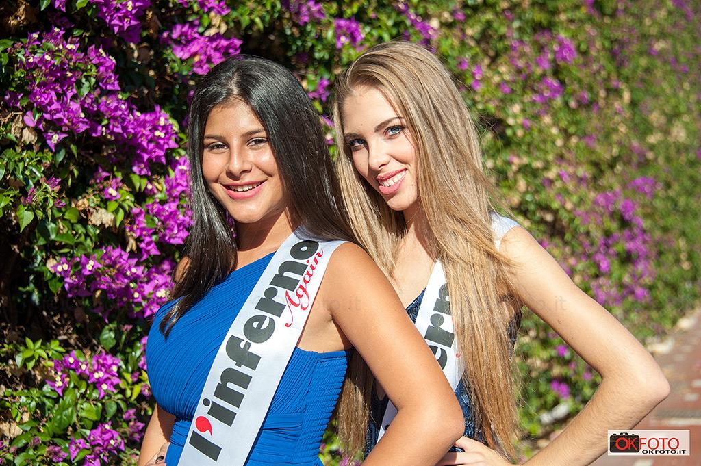 Le giovanissime Miss del Raduno Lancia a Ospedaletti