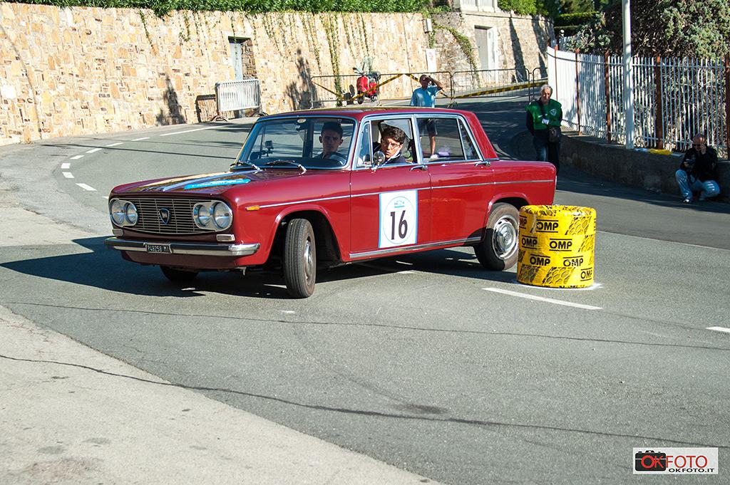 Lancia Fulvia berlina sul Circuito di Ospedaletti