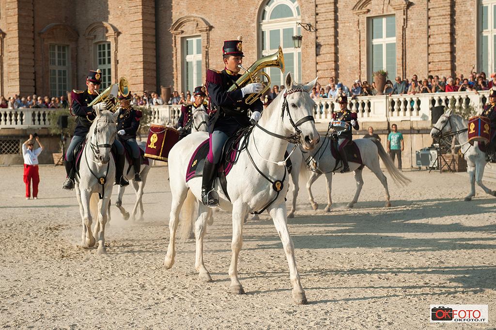 Fanfara a cavallo della Polizia di Stato alla Reggia di Venaria