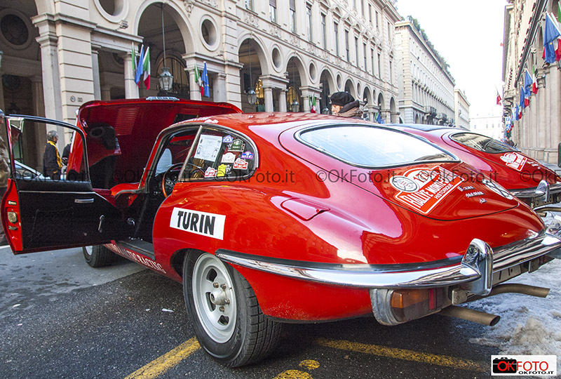 La Jaguar coupè al Rally historic di Monte-Carlo