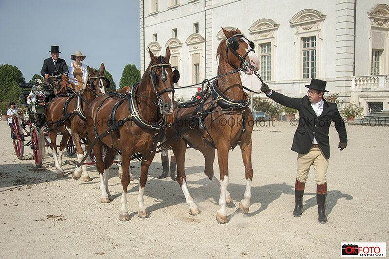 I groom al lavoro in occasione del concorso di attacchi di tradizione