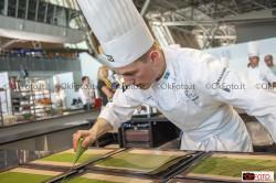La preparazione dei piatti al Bocuse d'or Europe
