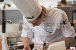 Curtis Malpas, team Italia, al Bocuse d'or Europe 2018