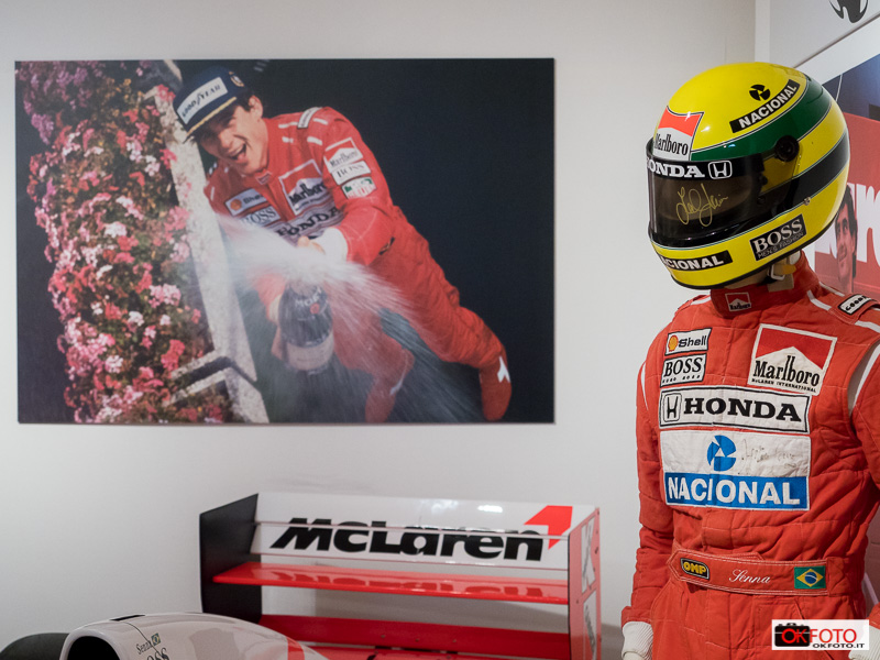 La McLaren di Senna esposta ad Asti