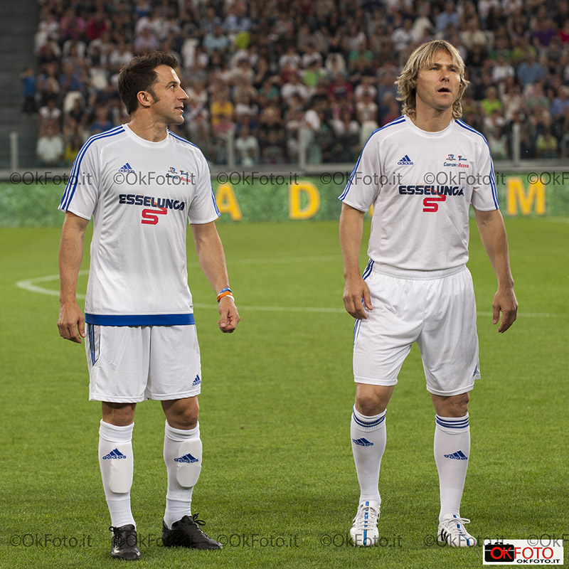 Alex Del Piero e Pavel Nedved all'Allianz Stadium per la Partita del Cuore