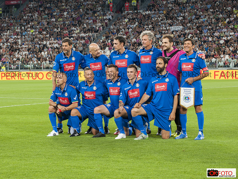 La Nazionale Cantanti all'Allianz Stadium