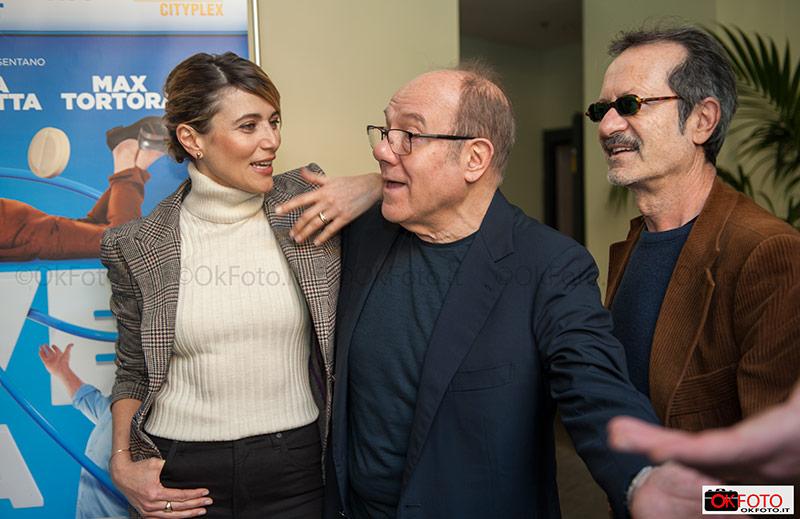 """Carlo Verdone, Anna Foglietta e Rocco Papaleo in occasione della presentazione del film """"Si vive una volta sola"""""""
