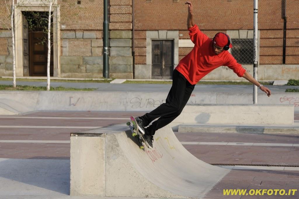 Skateboarding in piazzale Valdo Fusi – le foto