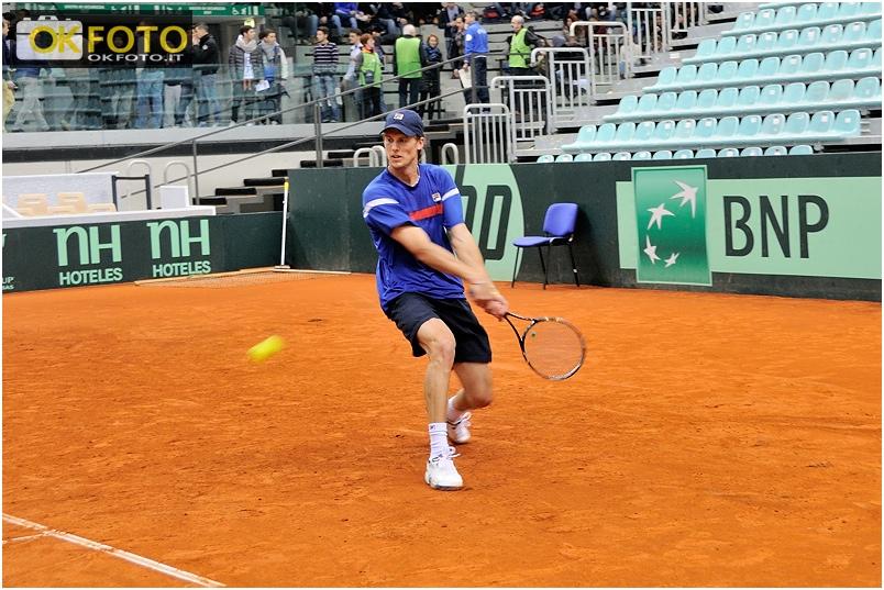 Coppa Davis a Torino, le foto dagli allenamenti al Palavela per Italia-Croazia