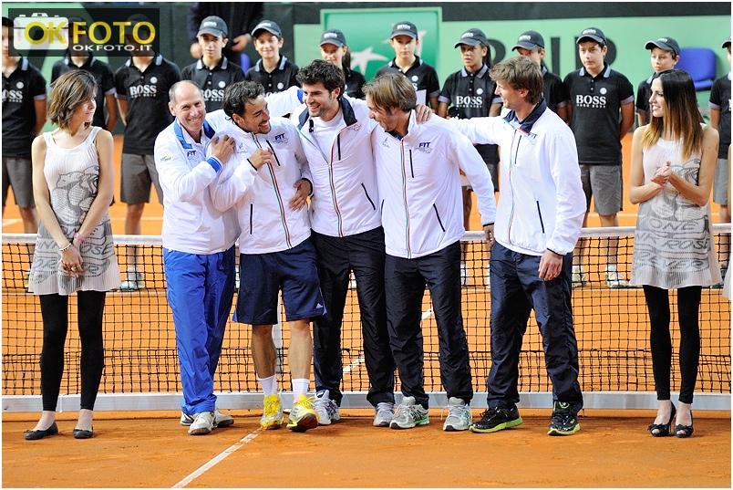 Coppa Davis a Torino, l'Italia batte la Croazia 3-2 ed approda ai quarti di finale – Le foto