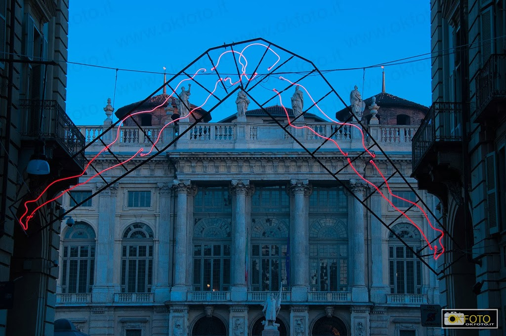 Natale a Torino: la magia dei colori al tramonto