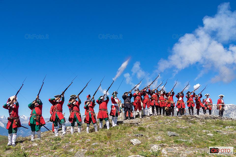 Al Colle dell'Assietta la Rievocazione della Battaglia tra Piemontesi e Francesi