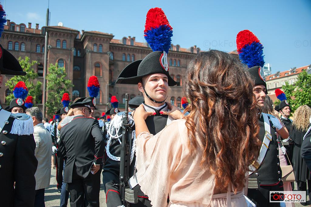 Cerimonia di consegna degli alamari agli Allievi Carabinieri della Caserma Cernaia